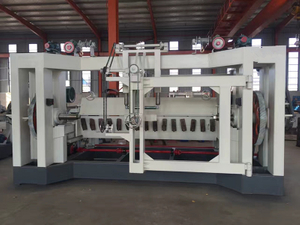 Spindle plywood veneer peeling machine